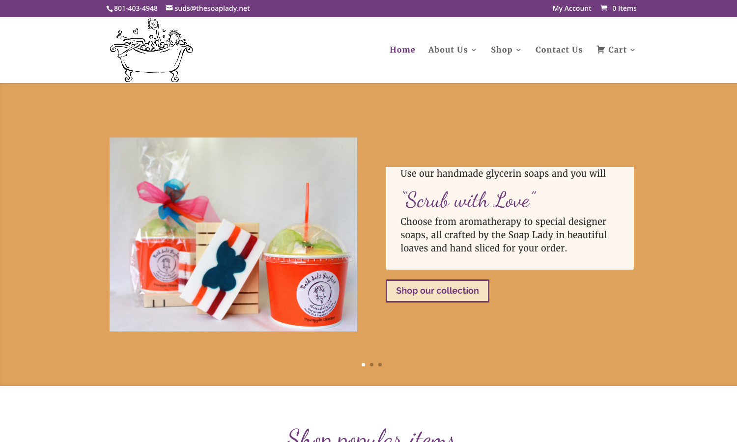 Soap Lady Website