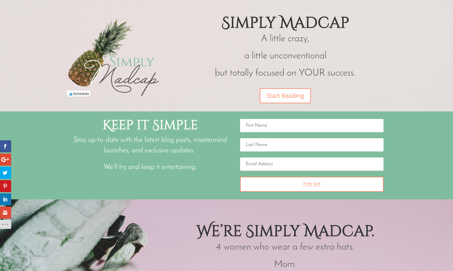 Simply Madcap Website