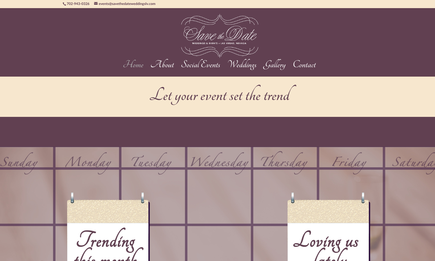 Save the Date Weddings Website