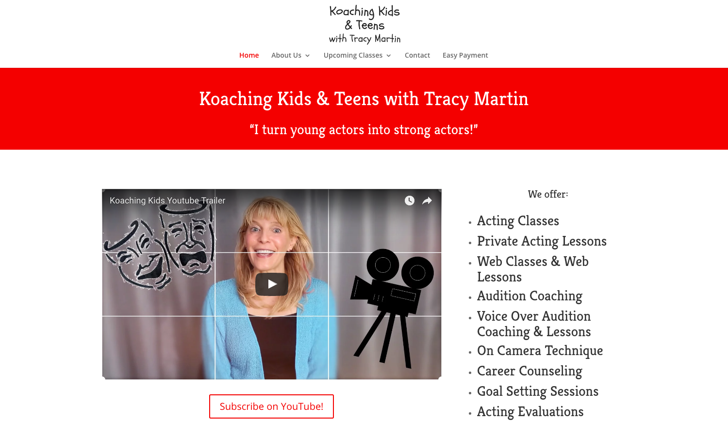 Koaching Kids Website