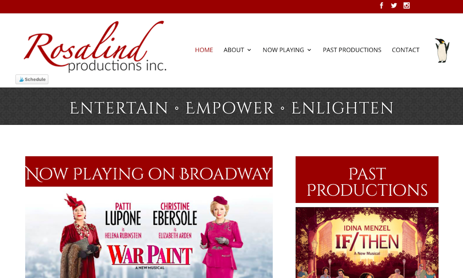 Rosalind Productions Website