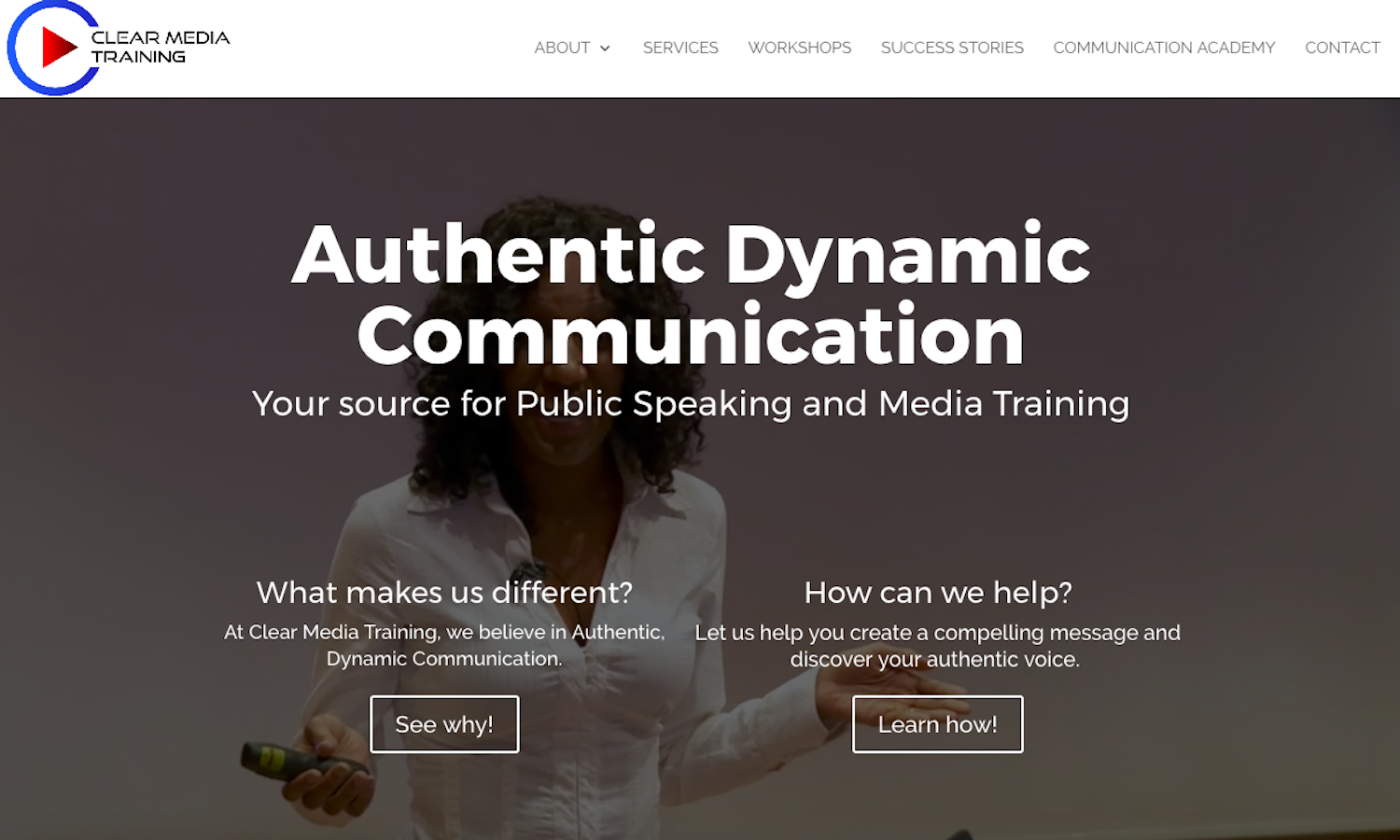 Clear Media Training Website