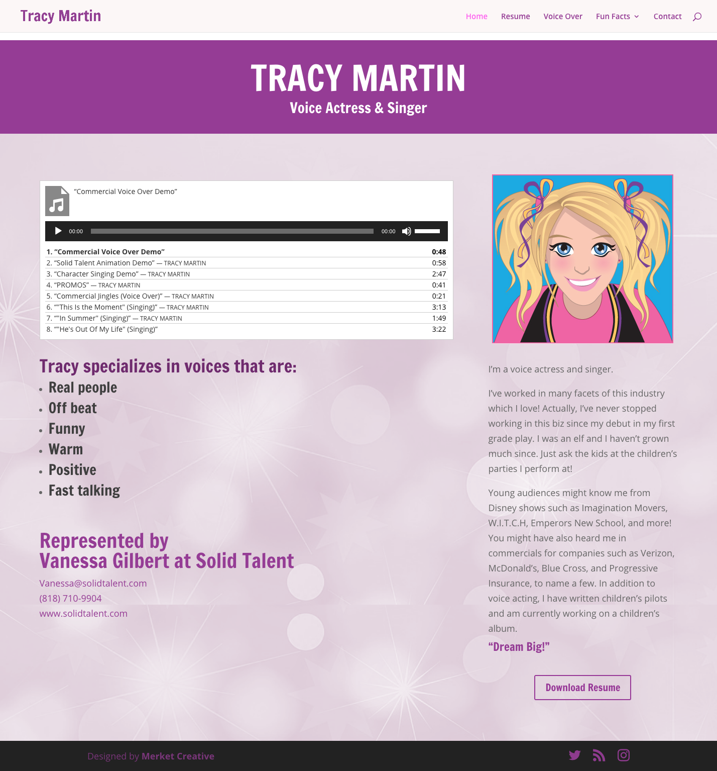Tracy Martin Website