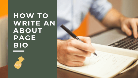 How to write an about page bio